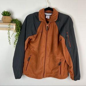 Columbia coat fleece rust and black size medium
